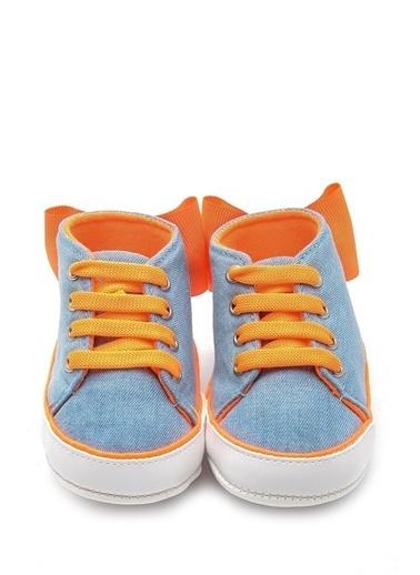 First Step Fosforlu Kurdele Bebek Patik  G-2208 Oranj